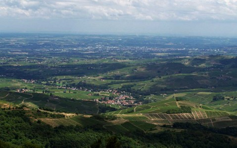 Vue du village du Perréon